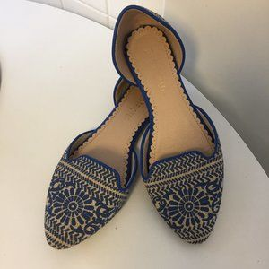 Shoes - Restricted Blue Slip-on Flats